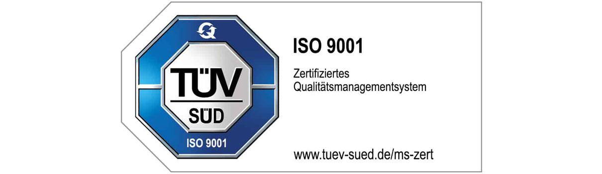 ISO 9001 - zertifiziertes Qualitätsmanagementsystem