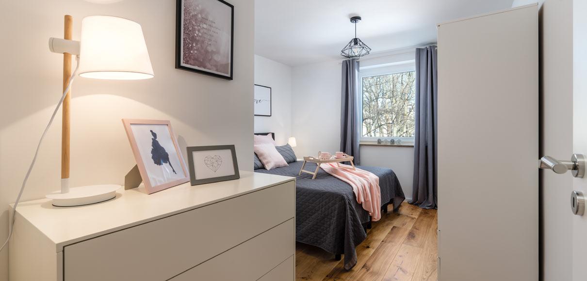 Home Staging füer möblierte Vermietung - Schlafzimmer
