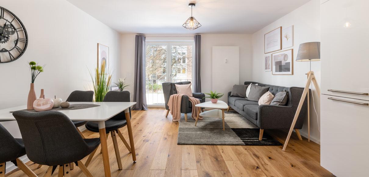 Home Staging füer möblierte Vermietung - Wohn- / Esszimmer