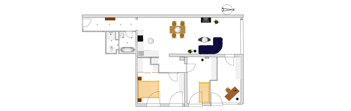 ADDA Mietmöbel - Grundriss Wohnung für Angebotserstellung