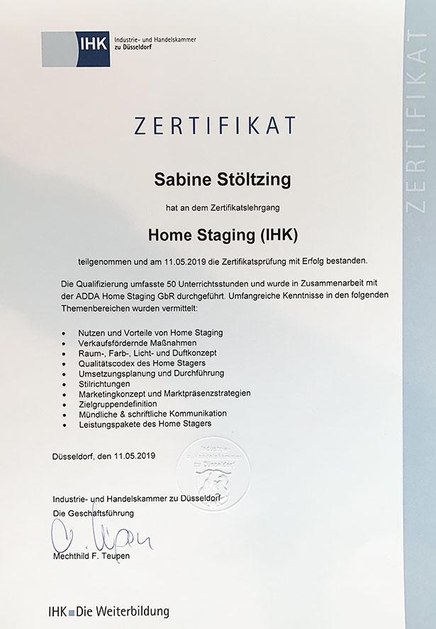 Sabine Sauer - IHK-Zertifikat