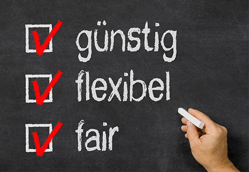 günstig flexibel fair