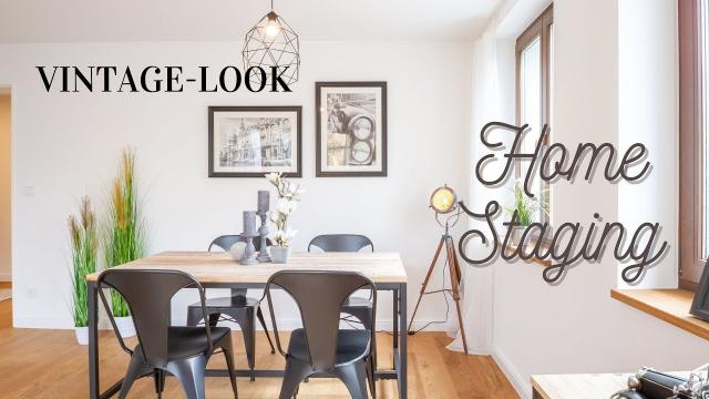 Schöne Wohnung im brauen Vintage-Look